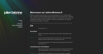 Julien Brionne Website Screenshot