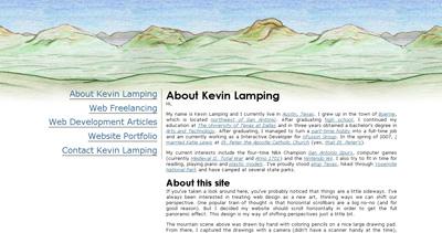 Kevin Lamping Website Screenshot