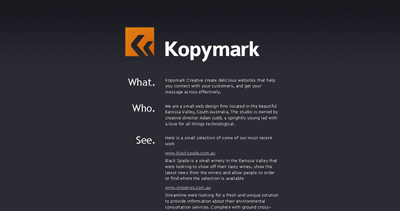 Kopymark Creative Website Screenshot