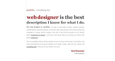 Kurt Krumme Website Screenshot