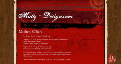 MattZ Design Website Screenshot