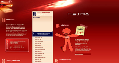 metrix Website Screenshot