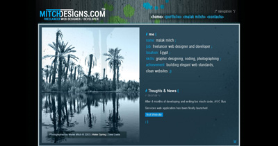 MitchDesigns Website Screenshot