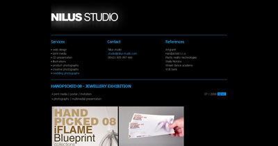 Nilus Studio Website Screenshot
