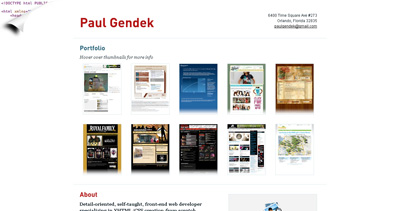 Paul Gendek Website Screenshot