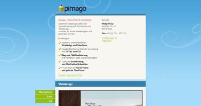 pimago Website Screenshot