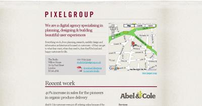 Pixelgroup Website Screenshot