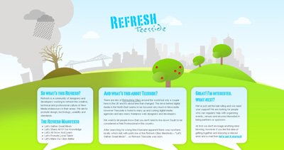 Refresh Teesside Website Screenshot