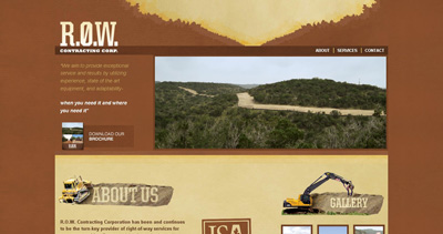 Right Of Way Contracting Corp Website Screenshot