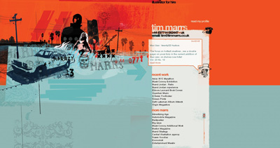 Illustrator Tim Marrs Website Screenshot
