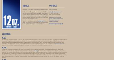 twelveounces Website Screenshot