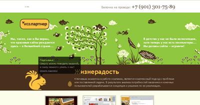 Web Partner Website Screenshot