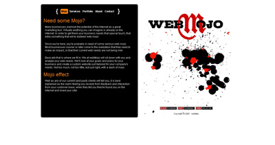 webMojo Website Screenshot