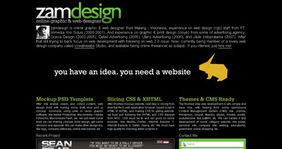 zamdesign Website Screenshot