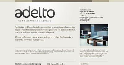 Adelto Website Screenshot