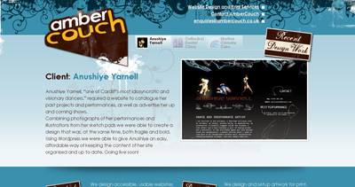 AmberCouch Website Screenshot