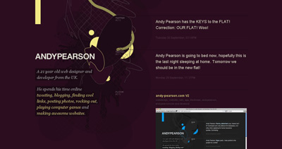 Andy Pearson Website Screenshot