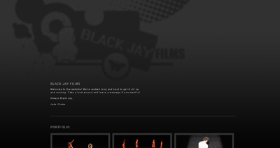 Black Jay Films Website Screenshot