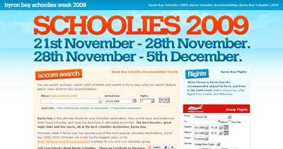 Byron Schoolies Accommodation Thumbnail Preview