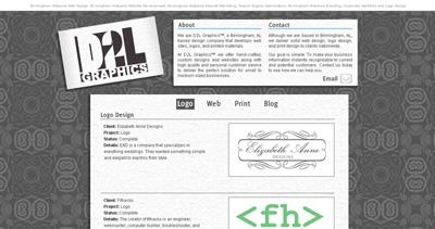 D2L Graphics Website Screenshot