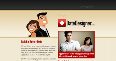 Date Designer Website Screenshot