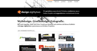 design eightytwo Website Screenshot