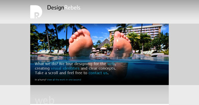 DesignRebels Website Screenshot