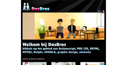 DosBros Website Screenshot
