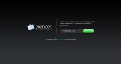 Exender Website Screenshot