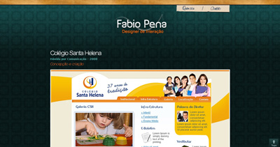 Fábio Pena Website Screenshot