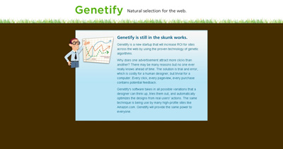 Genetify Website Screenshot