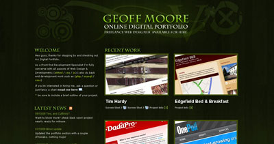 Geoff Moore Website Screenshot