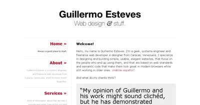 Guillermo Esteves Website Screenshot