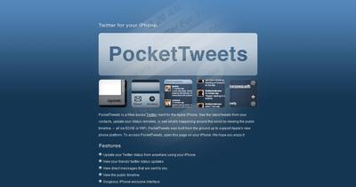 PocketTweets Website Screenshot