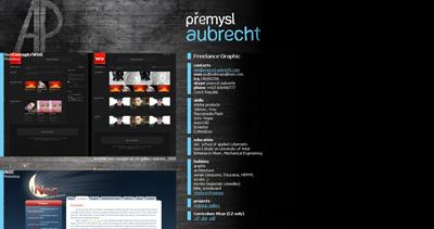 Premysl Aubrecht Website Screenshot