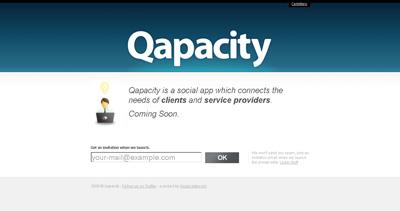 Qapacity Website Screenshot
