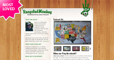Recycled Monkey Website Screenshot