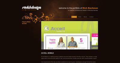 Rich Bachman Website Screenshot