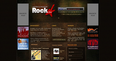 Rockalive Website Screenshot