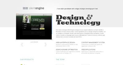 Silent Engine Website Screenshot