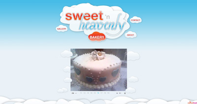 Sweet 'n Heavenly Bakery Website Screenshot