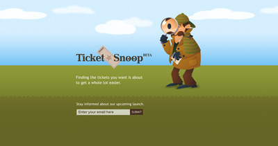 TicketSnoop Website Screenshot