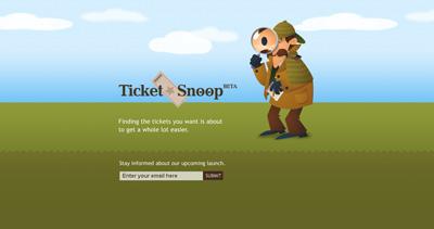 TicketSnoop Website Screenshot