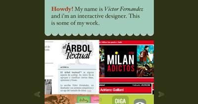 Víctor Fernández Website Screenshot