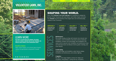 Volunteer Lawn Inc. Website Screenshot