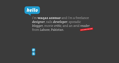 Waqas Ashraf Website Screenshot