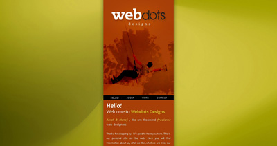 WEBdots Designs Website Screenshot