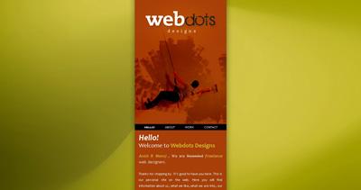 WEBdots Designs Website Screenshot