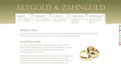 Altgold & Zahngold Website Screenshot