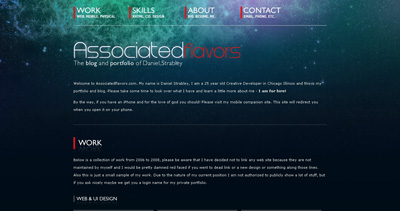 Associated Flavors Website Screenshot